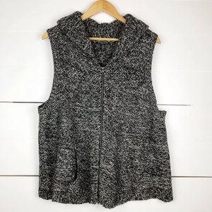 Eileen Fisher zip up knit sweater vest